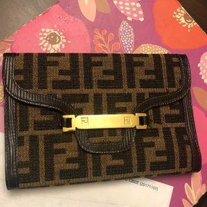 Fendi Zucca large vintage wallet